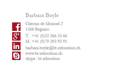 Carte de visite – BT Relocation