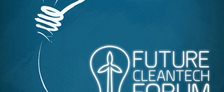 Affiche Future Cleantech Forum – Fond bleu