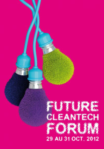 Affiche Future Cleantech Forum – Ampoules velues