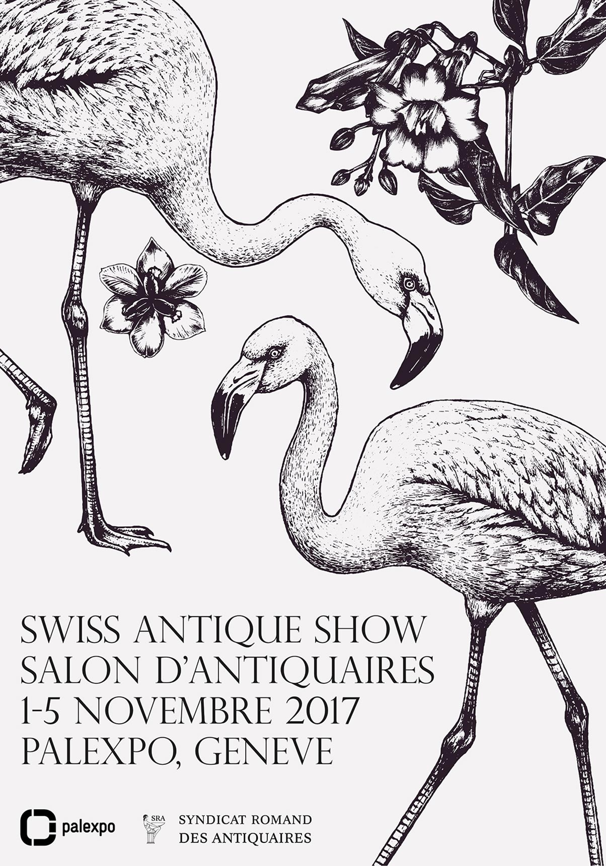 Affiche – Swiss Antique Show – Flamant rose