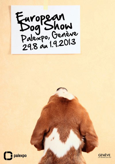 Affiche European Dog Show – Chien lisant un post-it