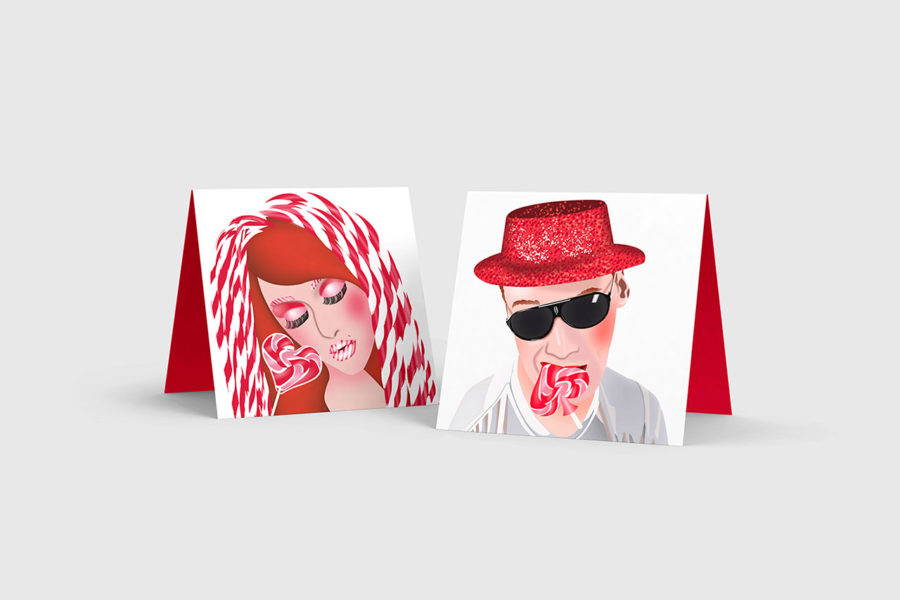 Illustration Lollypop Man and Woman